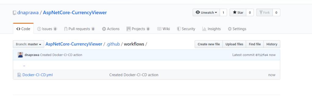 Docker CI/CD - konfiguracja