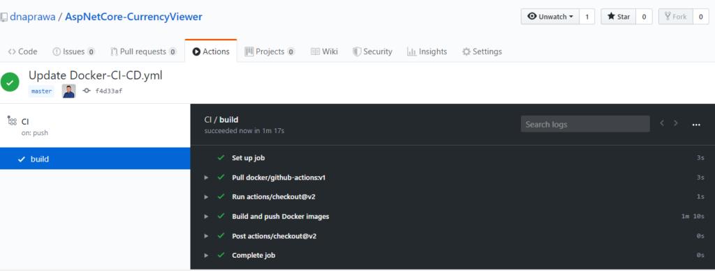 Docker CI/CD - budowanie obrazów